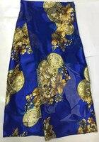 (5 yards/lot) AYSL7321-1, di alta qualità Africano rayon tessuto con pietre per il vestito stampe imitazione tessuto di seta burnout tessuto