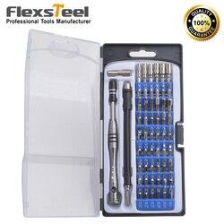 Zestaw magnetycznych wkrętaków precyzyjnych Flexsteel 57 w 1 z 54 bitami  narzędzie do napraw ręcznych zestaw do elektroniki iPad iPhone laptopy PC