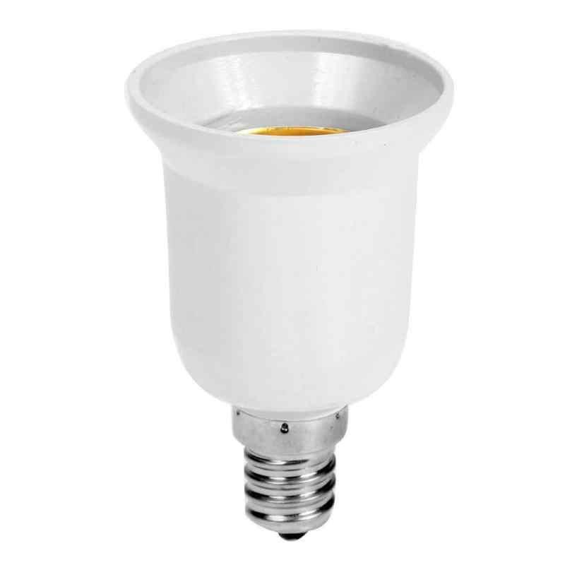 1pc Fireproof Plastic E14 to E27 Socket Adapter Conversion Lamp Holder Converter Socket Light Bulb Adapter Led Light Base Lights