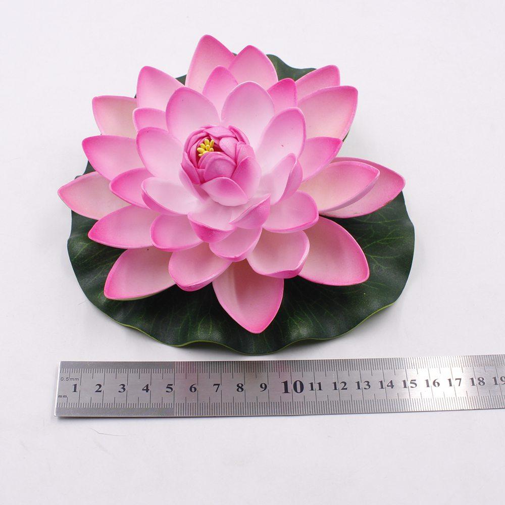 1pcs 17cm Decor Garden Artificial Fake Lotus Flower Foam Lotus