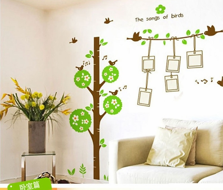 Buy photo tree wall sticker decals piture for Tree wallpaper living room