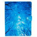 """Blue woods pattern  Leather Flip Case for Apple iPad air1 2 iPad mini4 iPad2 3 4 pro 9.7"""" Case Stand Cover Case With Card Holder"""