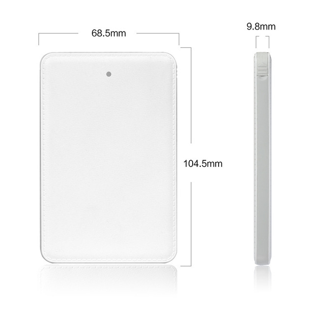 Powerbank mini tarjeta de crédito 5000 mah universal de reserva externa portable del cargador power bank para samsung xiaomi htc android iphone 6
