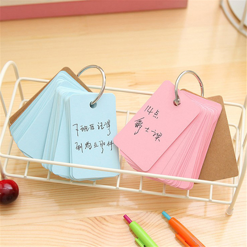 Notebooks & Writing Pads Office & School Supplies South Koreas Simple Blank Memo Pad Note Student English Word Notepad Ring Loose-leaf Notebook Portable Memory Card