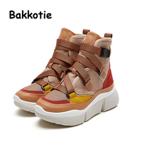 Bakkotie 2018 New Spring Fashion Baby Girl Fashion Shoes Children Casual Boots Boy Ankle White Shoe Kid Brand High Sneakers