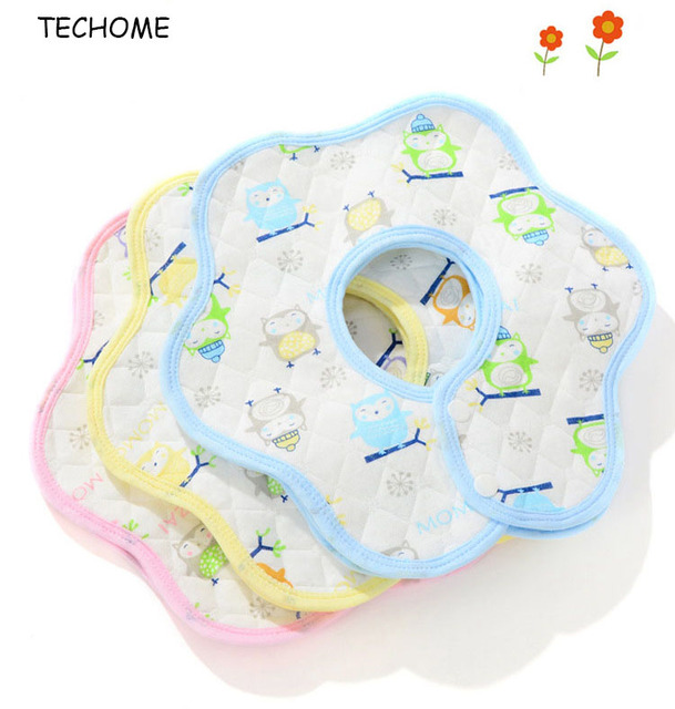 3 unids búho patrón bebé recién nacido Baberos impermeables Niñas ...