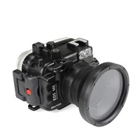 SeaFrogs 40m/130ft Underwater Camera Waterproof Housing Case For Canon EOS M6 (18 55MM) Lens