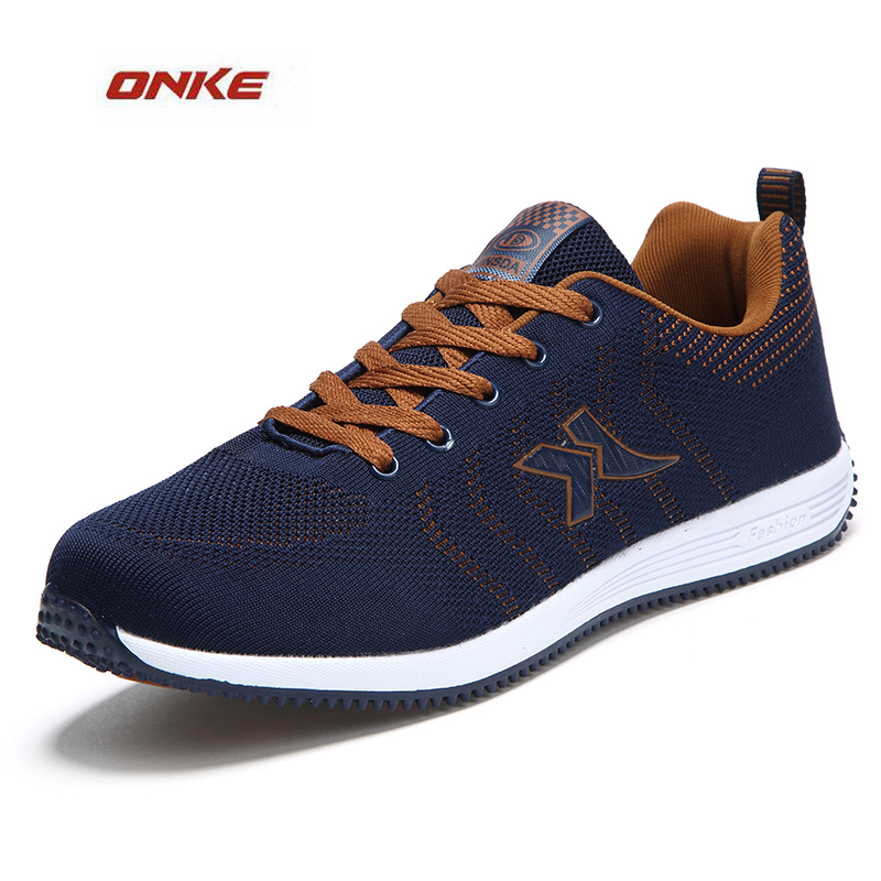 ONKE 2017 Man Best Selling Entertainment Track And Field Sports Running Shoes Male Big Size Breathable Walking Shoes From 39-47