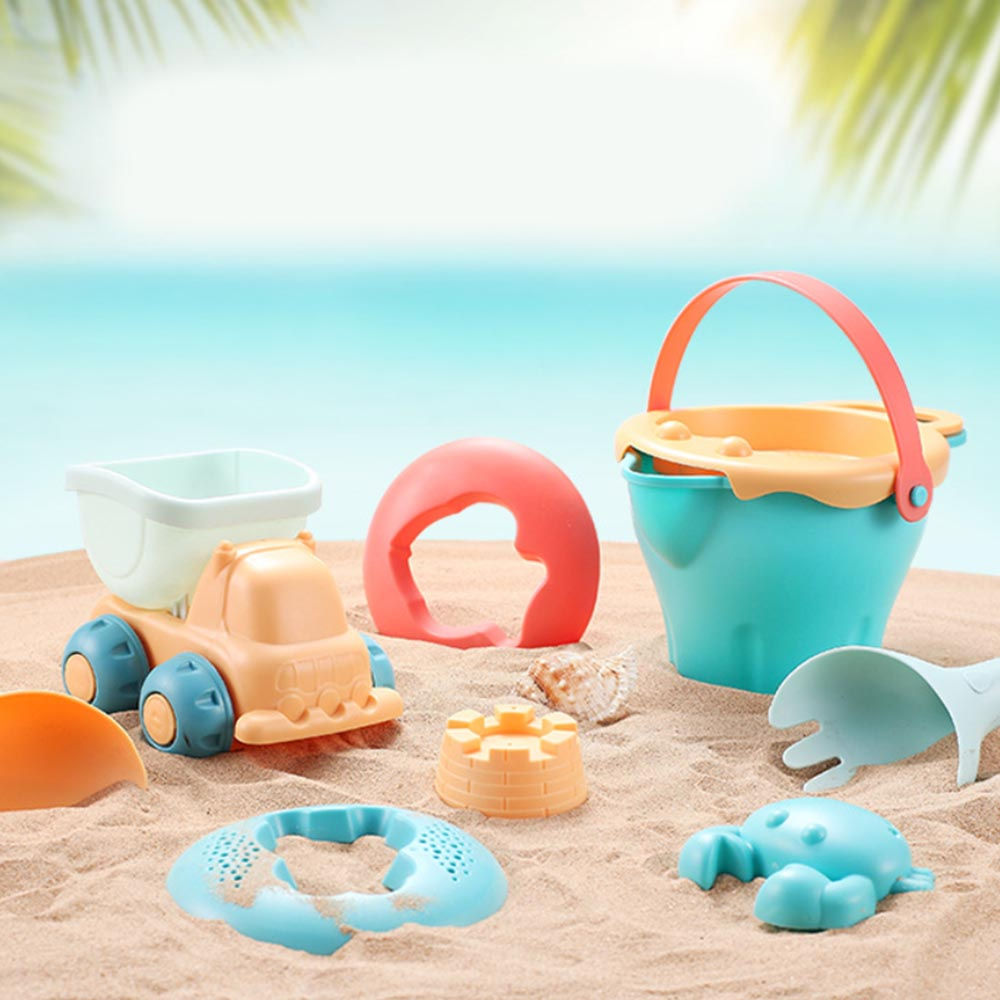 Portable Beach Sand Toys Set 5-17pcs Castle Sand Clay Mold Digging Shovel Tools Water Beach Toy Bath Water Playing Toy