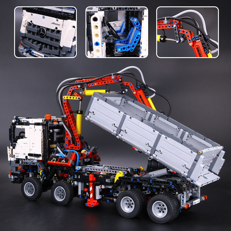 2793pcs NEW LEPIN 20005 technic series 42023 Arocs Model Building Block Bricks Compatible with Boys Toy Gift 05007 2793pcs technic remote controlled arocs truck 20005 building kit 3d model blocks minifigures toys bricks compatible with lego