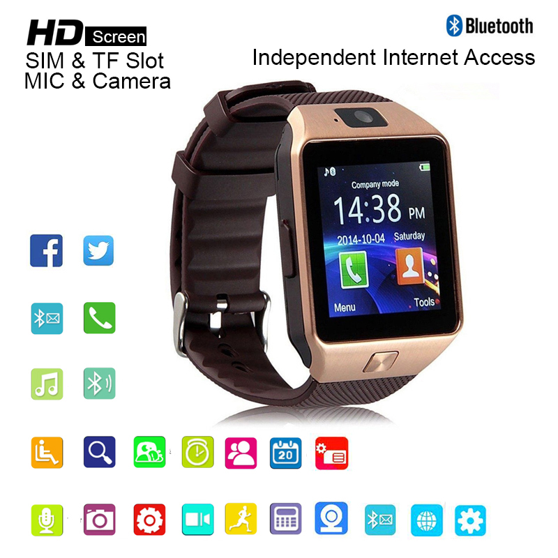 Smartwatch Men Smart Watch with Camera Bluetooth 3.0 Support SIM TF Card for IOS Smartfone Android Phone Watch Men relojes