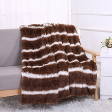 Soft Long Shaggy Fur A Blanket Plaid Fleece for Bed Sofa Cover Wool Bedspread for Bedroom Living Room Quilt Throw Double Blanket