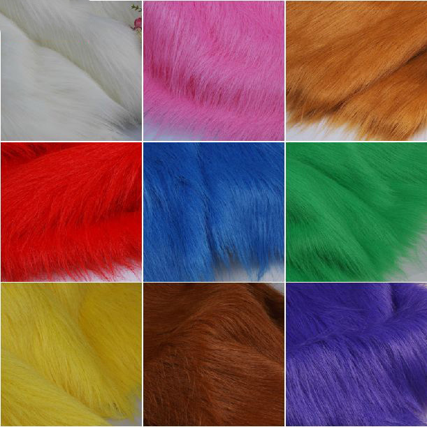 Multicolor faux fur fabric imitation for animal fur for Sewing fabric for sale