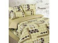 Комплект постельного белья двуспальный ЭКЗОТИКА, Домино, бежевый