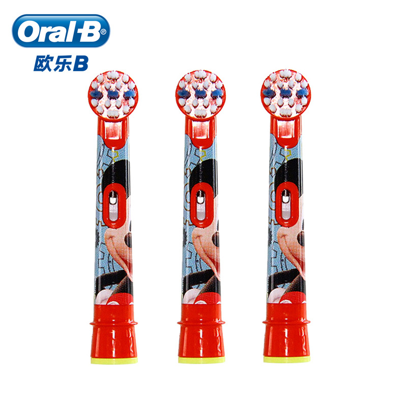 Oral B Kids Mickey Mouse Replacement Toothbrush Heads Stages Power Nozzle For Toothbrush Brush Head Oralb 3 Pieces EB10 3K image