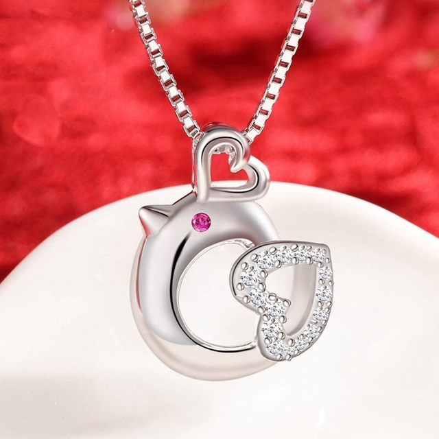 Pure 925 sterling silver necklaces jewelry wholesale sterling silver pure 925 sterling silver necklaces jewelry wholesale sterling silver jewelry heart chicken pendant necklaces aloadofball Images