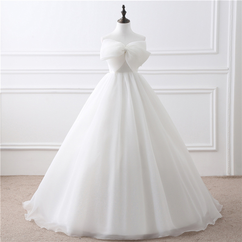 Simple Fashion Romantic Sweetheart Lacing Off the Shoulder Customed Ball Gown A Line Wedding Dresses veste nuptiali