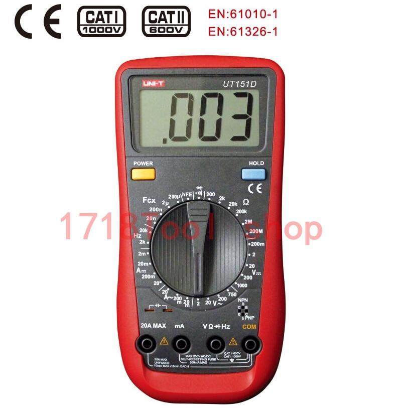 UNI-T UT151D Manual Range Digital Multimeters Professional Electrical Handheld Tester LCR Meter Ammeter Multitester [randomtext category=