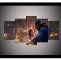 5d Diy Diamond Painting Beauty And Beast Movie Poster Cross Stitch Full Square Diamonds 3d Diamond