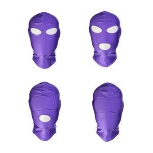 Image 5 - Erotyczne kaptur maska Sex zabawki Bondage fetysz kaptur maska dokręcić oddychające otwarte usta maski na oczy BDSM Cosplay Sex zabawki erotyczne nakrycia głowy