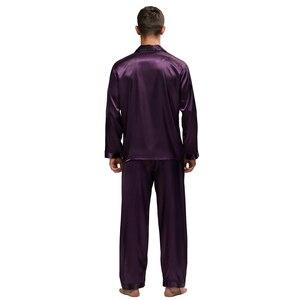 Image 5 - Tony & Candice Nam Vết Bẩn Lụa Pyjama Set Nam Bộ Đồ Ngủ Quần Áo Ngủ Lụa Nam Sexy Hiện Đại Phong Cách Mềm Mại Ấm Cúng Satin váy Ngủ Nam Mùa Hè