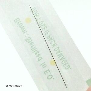 Image 5 - 100pcs חד פעמי מעוקר מקצועי קעקוע מחטי 1RL עבור קעקוע גבות עט קבוע מכונה מכונות 0.35x50mm