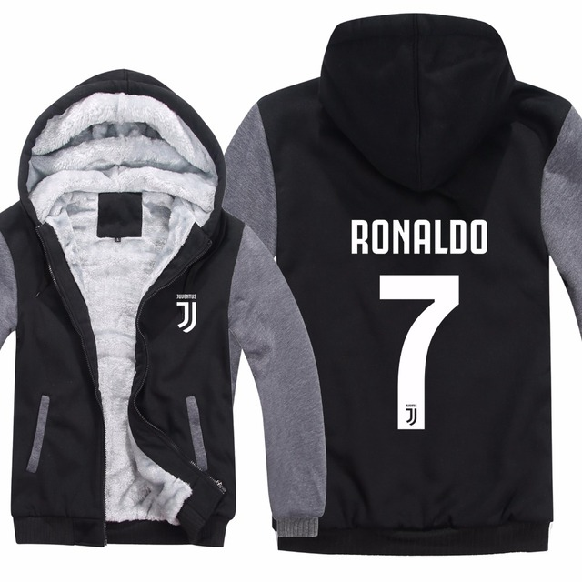 1e4e6dbf3c0 Cristiano Ronaldo Hoodies CR7 Jacket Winter Pullover Man Coat Men Fashion  Wool Liner Fleece Unisex Juventus Sweatshirts Hoody