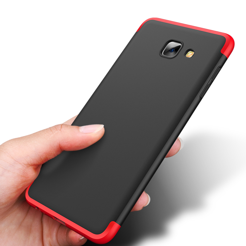 For Samsung Galaxy J7 Max Case 360 Degree Protected Full Body Phone Case for Samsung J7 Max Case Shockproof Cover+Glass Film