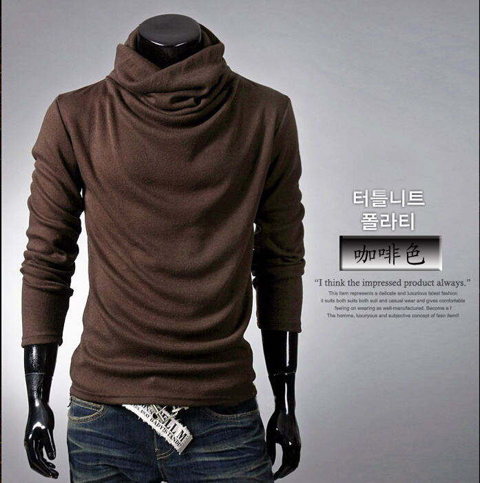 Autumn winter mens slim shirt Long sleeve fashion Plaid WHITE ...