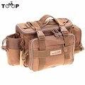 Trulinoya 40 * 15 * 19cm Fishing Bag Multi-function Fishing Tackle Bag Waterproof Canvas Waist Fishing Lure Bag Shoulder