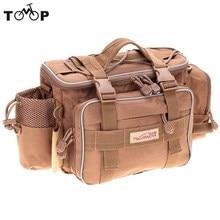 Trulinoya multi-function * canvas tackle lure waist shoulder waterproof fishing bag