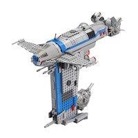 2018 Notizie 873 pz Starwars Resistenza Bomber Blocks Mattoni Ragazzi Modle Giocattoli Compatibile con Legoingly 75188 per I Bambini Regali Fai Da Te