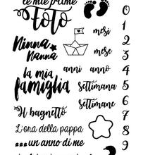 Итальянский прозрачный силиконовый штамп/печать для скрапбукинга/фотоальбом Декоративные прозрачные штамп листы A974