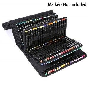 Image 2 - OLIKE 168 슬롯 마커 케이스 주최자 홀더 Primascolor 및 Copic 스케치 마커 드라이 지우기 컬러 페인트 마커