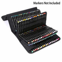 OLIKE 168 Slots Marker Case  Organizer  Holder for  Primascolor Markers and Copic Sketch Markers Dry Erase Color Paint Markers