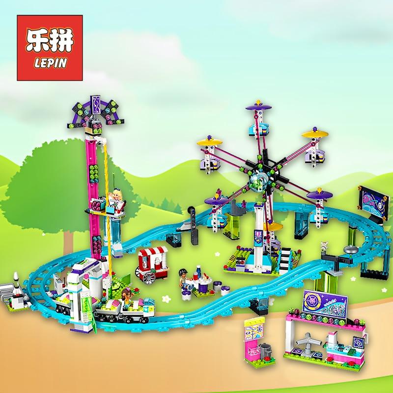 Lepin Girl Series 01008 Amusement Park Roller Coaster Legoinglys Friends Blocks Model Building Bricks Toys for Children 41130 цена