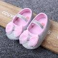 Тепло! 2016 новорожденного малыша обувь детская обувь Принцесса обувь лук блеск золото серебро девушка обувь бесплатная доставка