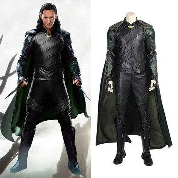 Cos Thor Ragnarok  Loki Laufeyson Cosplay Costume Marvel Chris Hemsworth Costume Movie 2017 Thor III Cosplay Thor3 Costume