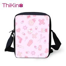 Thikin Nurse Child Shoulder School Square Messenger Bag Animal Kids Crossbody Schoolbag For Girls Book Bags Mochila Infantil