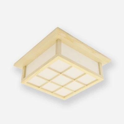 Moderna četverokutna ploča od hrastovog drveta, PVC drvena stropna - Unutarnja rasvjeta - Foto 4