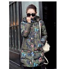 2019 Fashion Long Section Womens Winter And Autumn Camouflage Korean Down Jacket Hooded Waistcoat Cotton Parkas M/2Xl J457(China)
