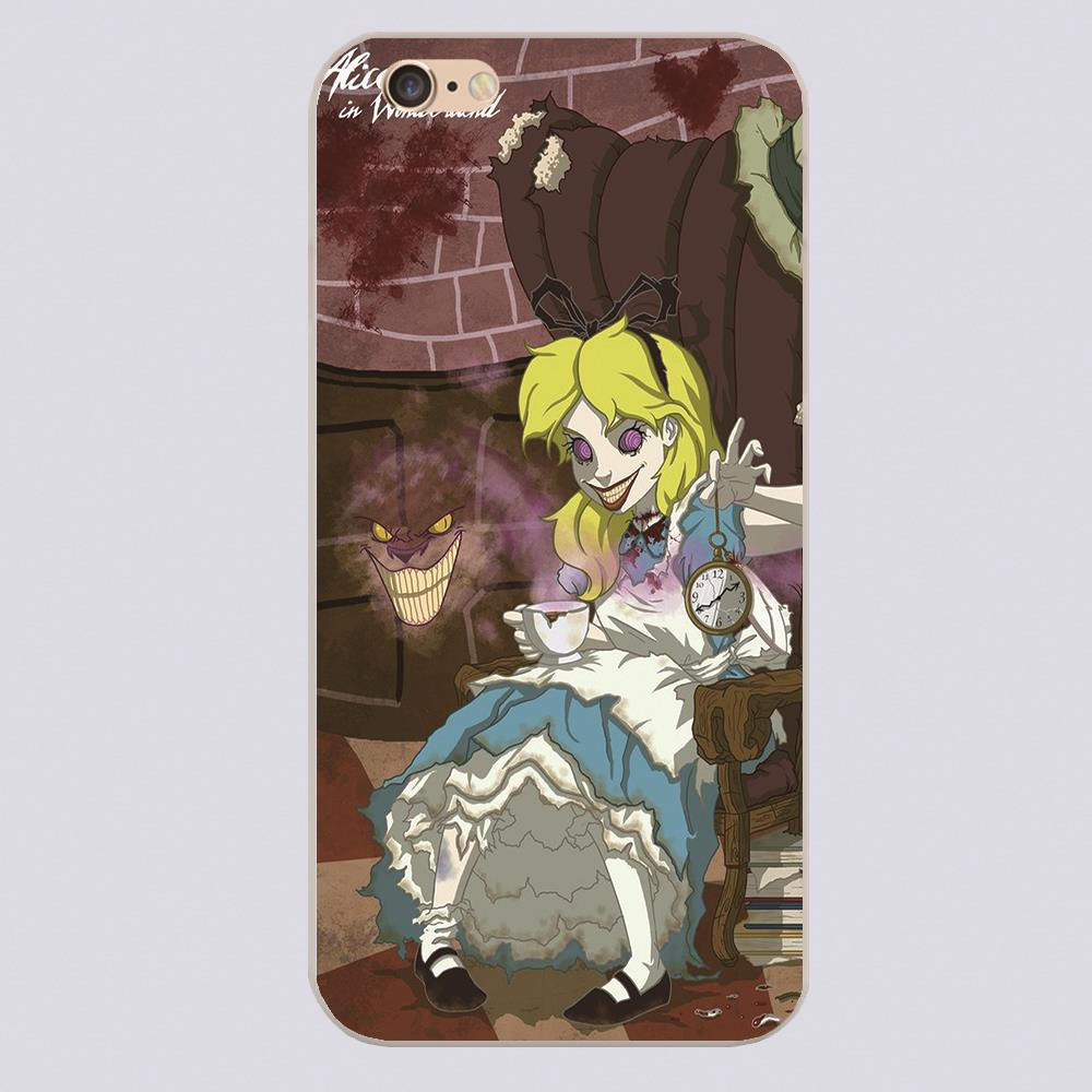 Twisted Princess Alice in Wonderland alice Design phone cover cases for iphone 4 5 5c 5s 6 6s 6plus Hard Shell