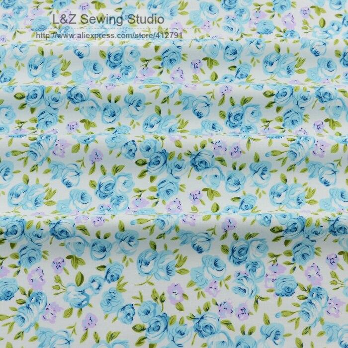 50 cm x 160 cm pièce bleu clair rose coton tissu textile de maison robe  couture literie tilda patchwork quilting vêtements 2210447987a