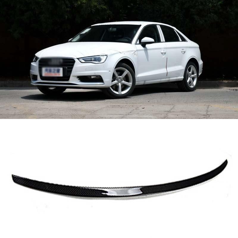 Производительность Стиль сзади углеродного волокна спойлер багажника загрузки губы крыло для Audi A3 седан 2014 2016
