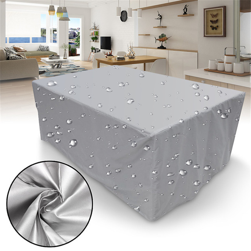 Furniture Cover Waterproof Outdoor Patio Garden Furniture Covers Rain Snow Chair Covers Beach Sofa Table Chair Dustproof Cover