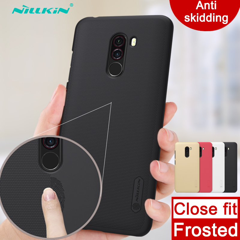Case for Xiaomi Pocophone F1 Nillkin Super Frosted Shield hard back cover case anti skidding case for Xiaomi Poco F1