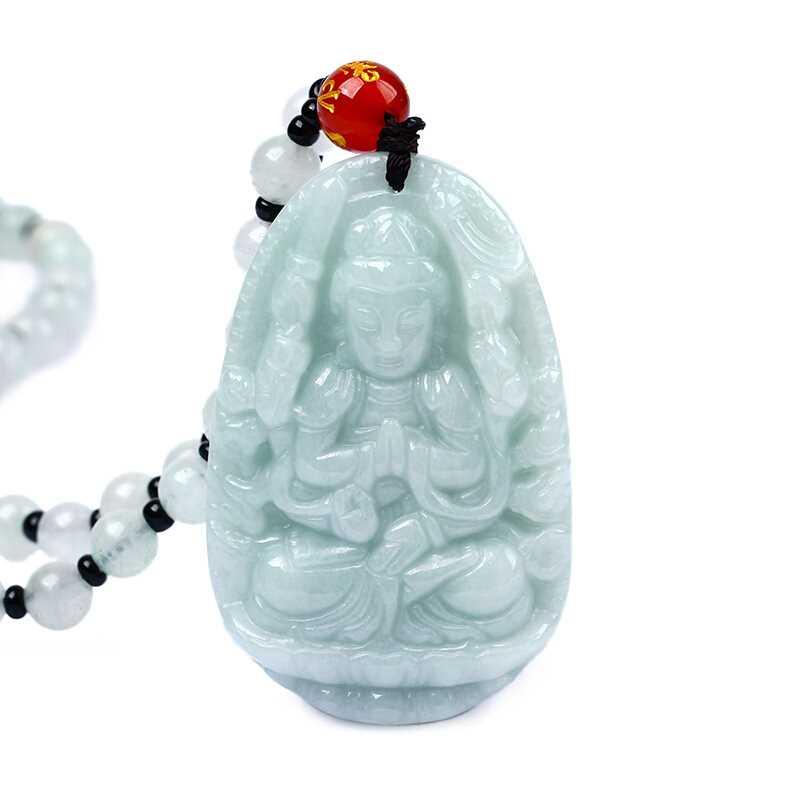 Natural jadeite Patron saint Avalokitesvara bodhisattva Zodiac rat protective necklace pendant Send a certificateNatural jadeite Patron saint Avalokitesvara bodhisattva Zodiac rat protective necklace pendant Send a certificate