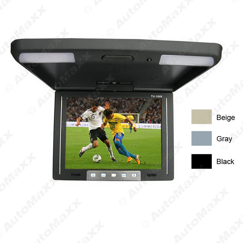 ФОТО 10.4 Inch Roof Mounted TFT LCD Monitor 2-Way Video Input Flip Down Car Monitor 3-Color For Choice #J-1283