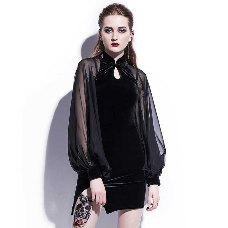 Новое китайское оригинальное дизайнерское осеннее бархатное свободное кружевное платье Сетчатое облегающий Чонсам Платье черное платье для вечеринки