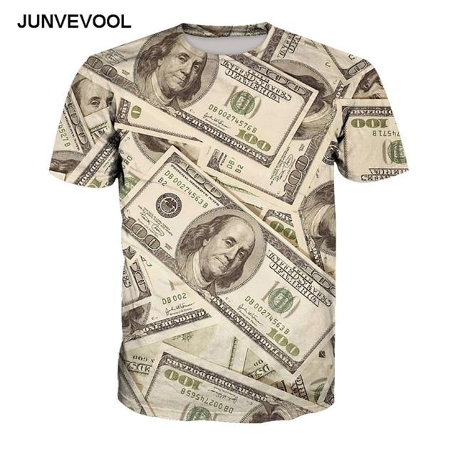 c4f24f5ff US Dollars Money T Shirt 3D Fitness Men Hip Hop T Shirts Harajuku Tops for  Men Cool T-shirts HOT Hombre 6xl Plus Size Tee Shirts
